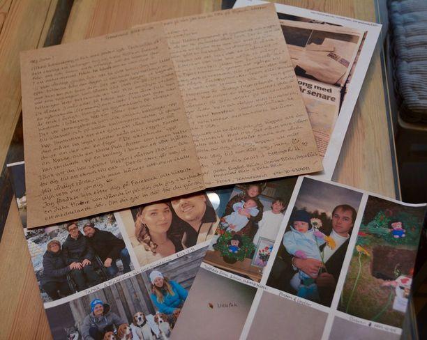 Lotta ja Christer Bäckin lähettämän tunteikkaan kirjeen mukana oli myös kuvia heidän perhealbumistaan.