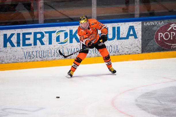 Petri Kontiola nosti kauden pistesaldonsa jo 50:een tämän illan tehojen 1+1 myötä.