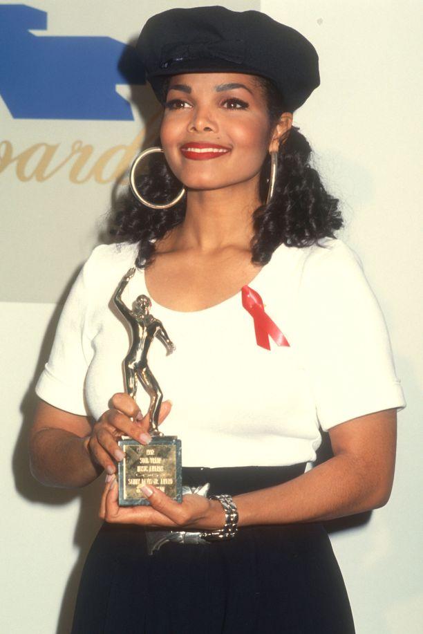 Jänet Jackson maaliskuussa 1992.