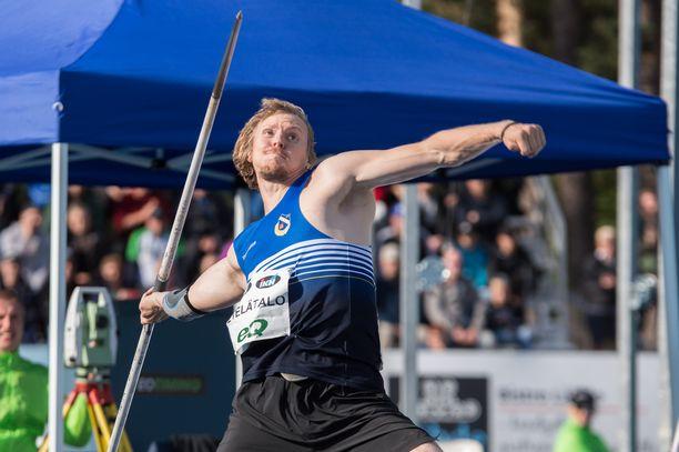 Lassi Etelätalo voitti Lappeenrannassa SM-kultaa päälle 84 metrin heitolla.