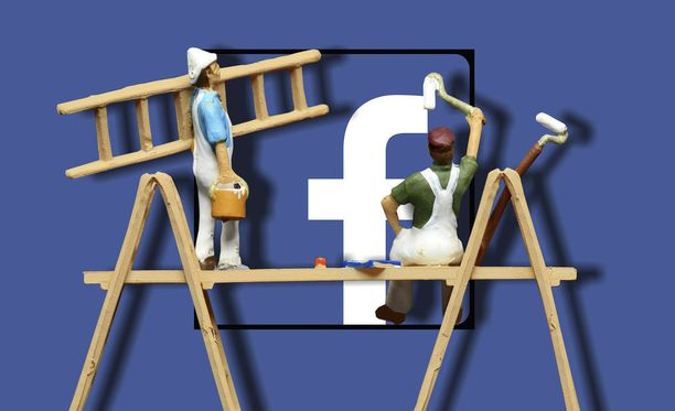 Facebook lähestyy tietovuodon uhreja viestillä.Kuvituskuva.