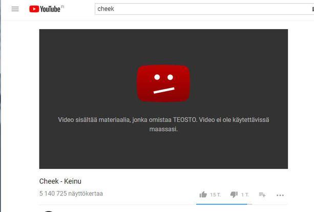 Tällainen teksti tulee Youtubessa vastaan.