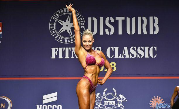 Linda Sonntag sijoittui kolmanneksi body fitnessin 45-vuotiaiden masters-sarjassa.