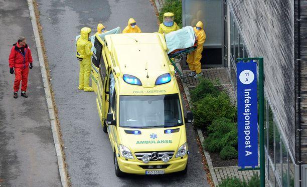 Norjassa hoidetaan ensimmäistä Ebolaan sairastunutta.