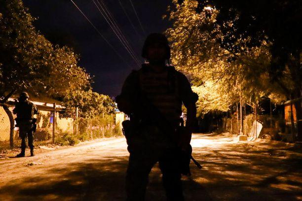 Viranomaiset partioivat Tamaulipasin Reynosassa toukokuun alussa.