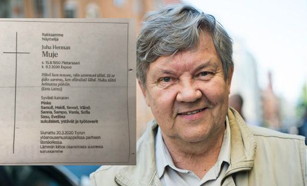 Juha Muje muistetaan lukuisista roolitöistään teatterissa, televisiossa ja elokuvissa.