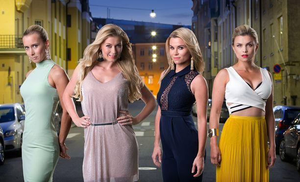 Nora Rinne, Monika Lindeman, Tiia Elg ja Irina Vartia nähdään sarjan keskeisissä osissa.