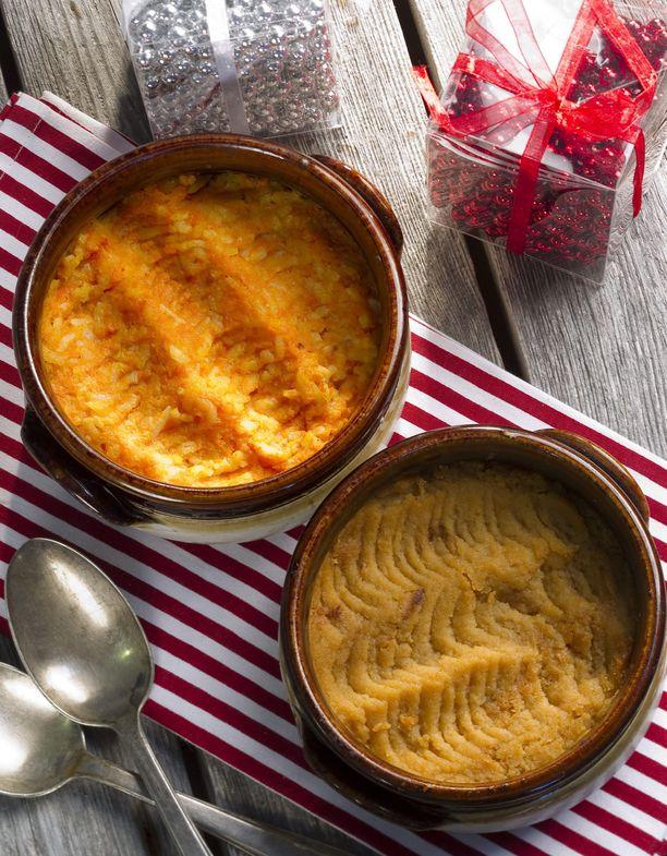 Lanttu- ja porkkanalaatikko kuuluvat perinteisesti suomalaiseen joulupöytään.
