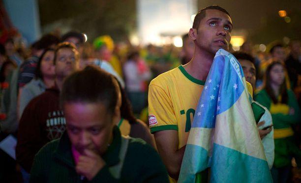 Kisatunnelma latistui nopeasti Brasilian suurimmassa kaupungissa Sao Paulossa.