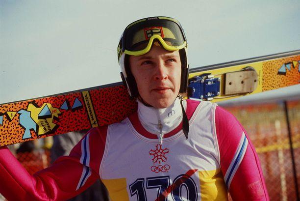 Kun Matti Nykänen sulki ulkopuoliset häiriötekijät pois, hän oli ylivoimainen mäessä. Kuva kanuunakaudelta 1987–88.