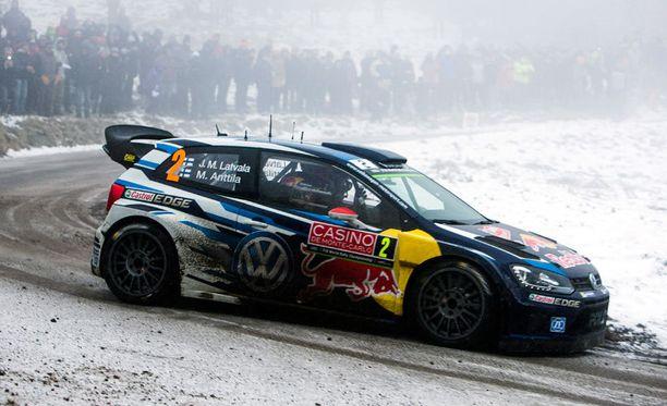 Jari-Matti Latvala on Monte Carlossa tällä hetkellä kolmantena.