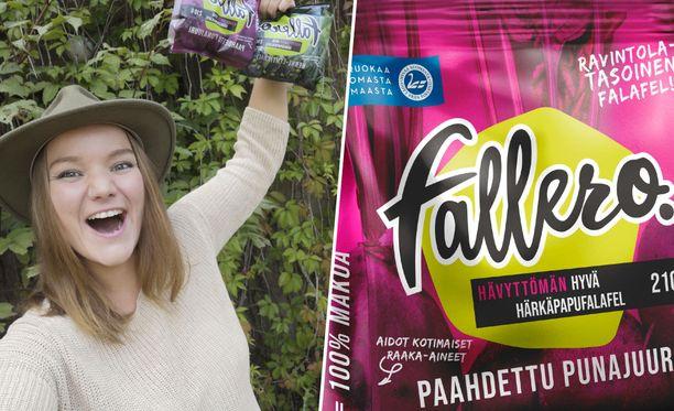 Ravintoloitsija Marjaana Pohjolalla on syytä hymyyn. Hänen kehittämänsä Fallero voitti Suomalainen menestysresepti -kilpailun.