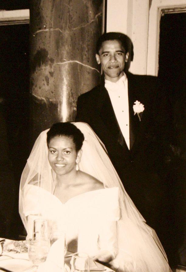 Barack ja Michelle Obama menivät naimisiin Chicagossa lokakuussa 1992.