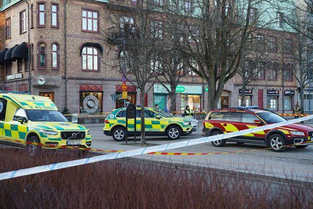 Hyökkäys oli Vetlandan keskustassa Ruotsissa.