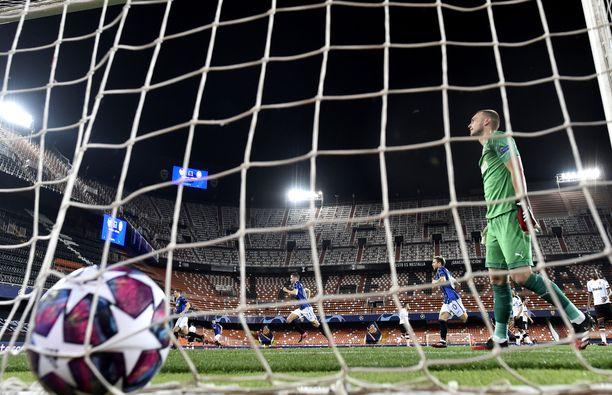 Kun Atalanta pelaa, maaliverkko heiluu. Sen sai tuta Mestarien liigassa Valencia.