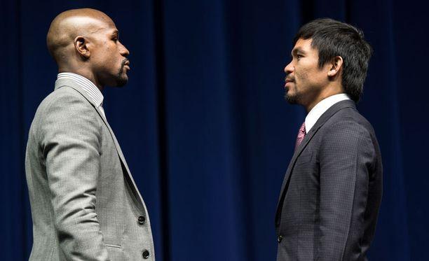 Floyd Mayweather ja Manny Pacquiao iskevät yhteen Las Vegasissa.