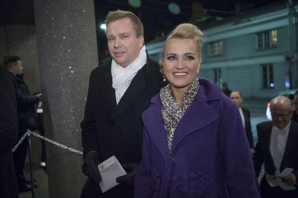 Antti Kaikkonen ja Satu Taiveaho osallistuivat joulukuun alussa Linnan juhliin.