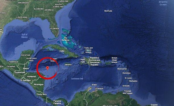 Maanjäristyksen keskus oli muutaman kymmenen kilometrin päässä Hondurasin rannikosta.