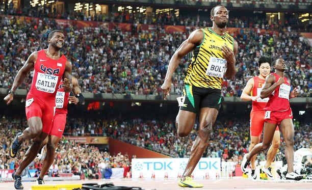 Justin Gatlinia ja Usain Boltia pidetään 200 metrin finaalin ennakkosuosikkeina.