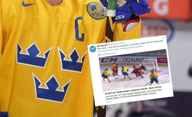Tyttöjen alle 18-vuotiaiden MM-finaalista kiinnostuneet katsoivat tietämättään väärää peliä Ruotsissa.