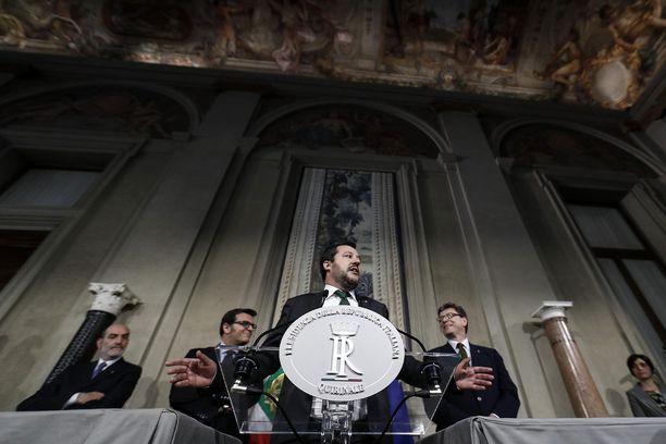 Liiton johtaja Matteo Salvini on saanut puolueensa kannatuksen huimaan nousuun.