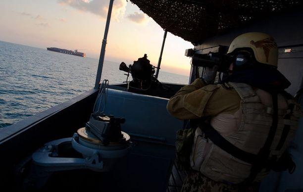 Pohjanmaan miehistö sai eilen päätökseen suojaustehtävän.