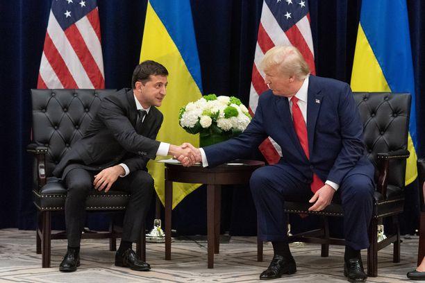 Volodymyr Zelenskyi ja Donald Trump tapasivat YK:n yleiskokouksessa keskiviikkona.