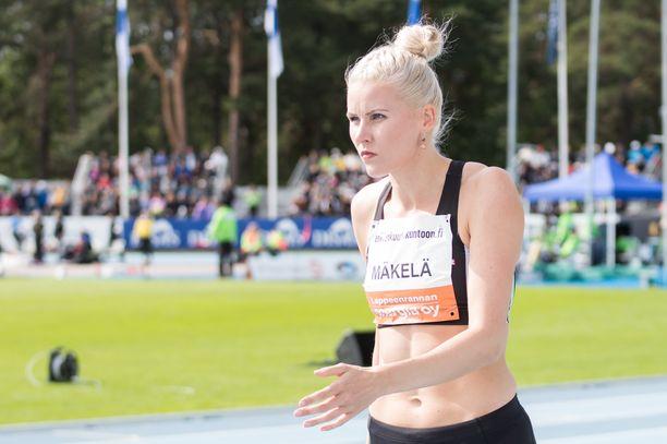 Uusi Suomen ennätys on Kristiina Mäkelän mielessä.