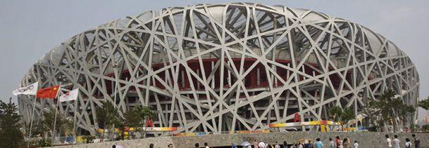 """""""Linnunpesä"""" toimi Pekingin olympialaisten pääareenana."""