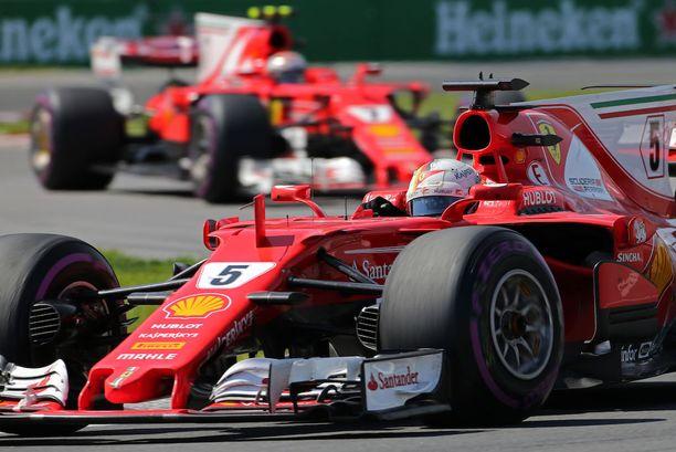 Ferrarit eivät onnistuneet Kanadassa ulosmittaamaan rengasetuaan.