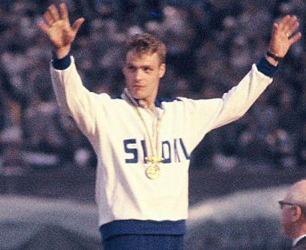 Pauli Nevala nousi korkeimmalle palkintopallille Tokiossa 1964.