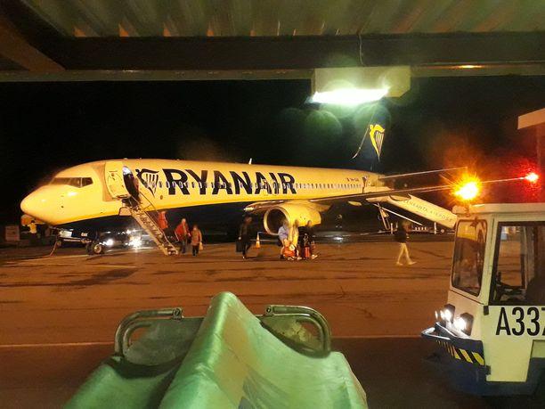 Ryan Airilta on tullut Italiasta Lappeenrantaan kaksi lentoa viikossa.