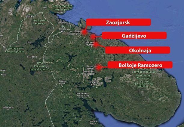 Näin lähellä Suomea ja Norjaa Venäjä säilyttää ydintaistelukärkiä.