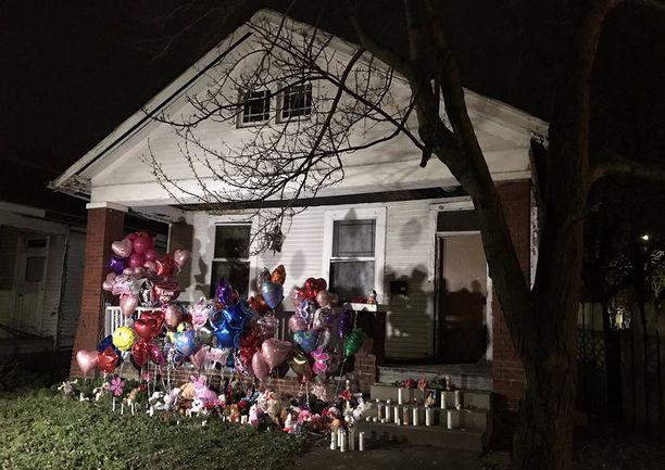 Tästä talostä tytön ruumis löytyi.