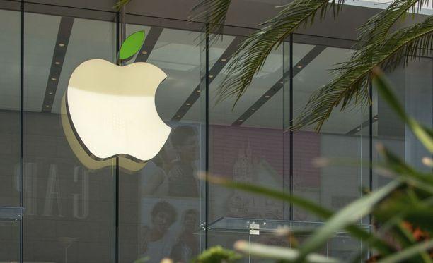 Applen liike Sanghaissa. Kuvituskuva.