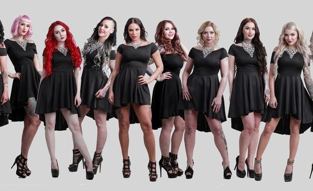 Miss Rockin tittelistä kisaa 10 toinen toista upeampaa kaunotarta.