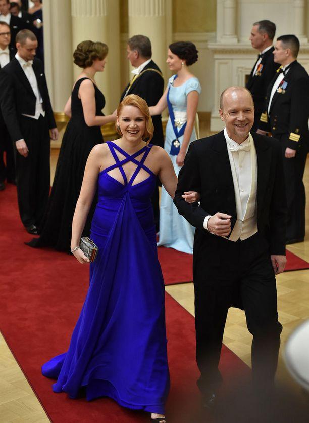 Anna-Maija Tuokko ja Kari Heiskanen esiintyivät ensimmäistä kertaa yhdessä julkisuudessa.