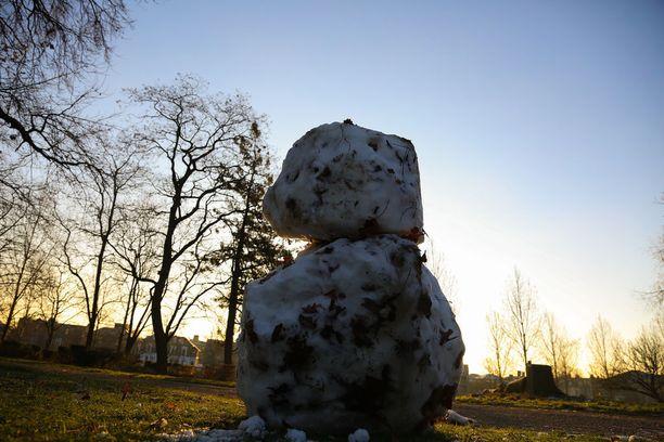 Naisen ruumis löytyi lontoolaisesta Finsbury Parkista. Kuva on otettu joulukuun 12. päivänä.