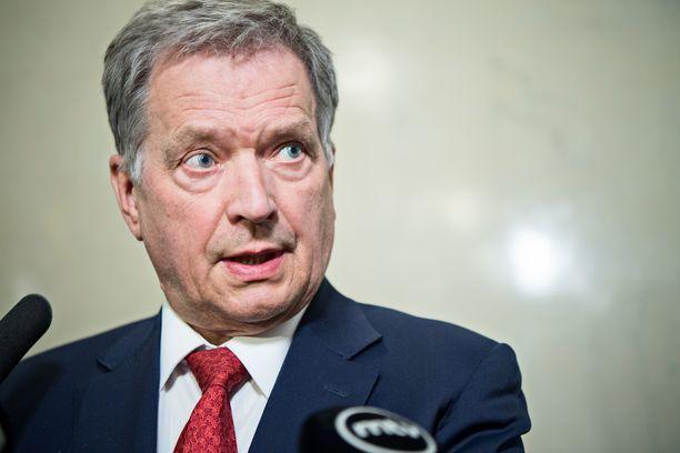 ´Tasavallan presidentti Sauli Niinistö otti puheessaan kantaa muun muassa maahanmuuttoasioihin.