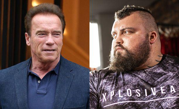 Arnold Schwarzenegger oli tsemppaamassa Eddie Hallia Arnold Calssic -kisassa vuonna 2015.
