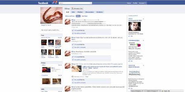 ILMIÖ Ritva-käärmeellä on internetin Facebook-sivustolla jo lähes 35 000 fania.