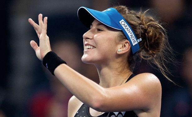 Belinda Bencicin vyöllä on kaksi turnausvoittoa kaksinpeleistä.