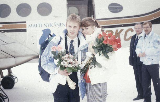 Tiina oli Nykäsen ensimmäinen vaimo.