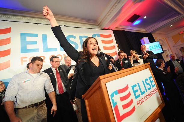 Elise Stefanik on 30-vuotiaana nuorin nainen USA:n kongressin historiassa. Hänet valittiin keskiviikkona edustajainhuoneeseen New Yorkista.