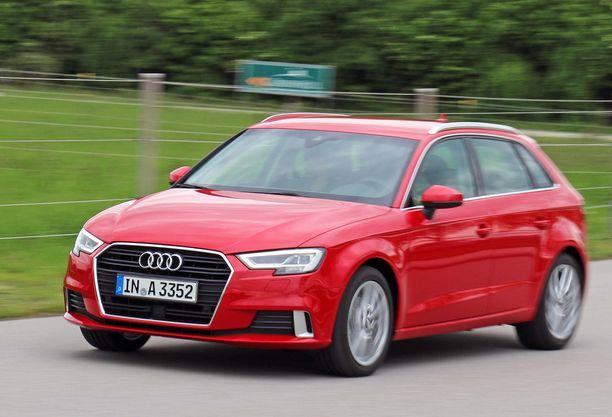 Audi A3 vie yleensä perille - tiepalvelun apua on tarvittu aniharvoin.