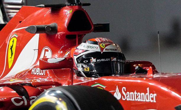 Kimi Räikkönen ei leijunut hyvin menneen harjoitustuokion jälkeen.