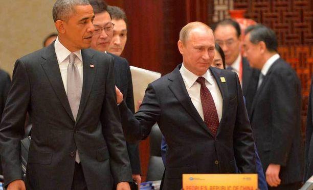 Presidentit Barack Obama ja Vladimir Putin kohtasivat hiljattain Pekingissä. Kohtaamista ei kuvailtu mediassa erityisen lämpöiseksi.