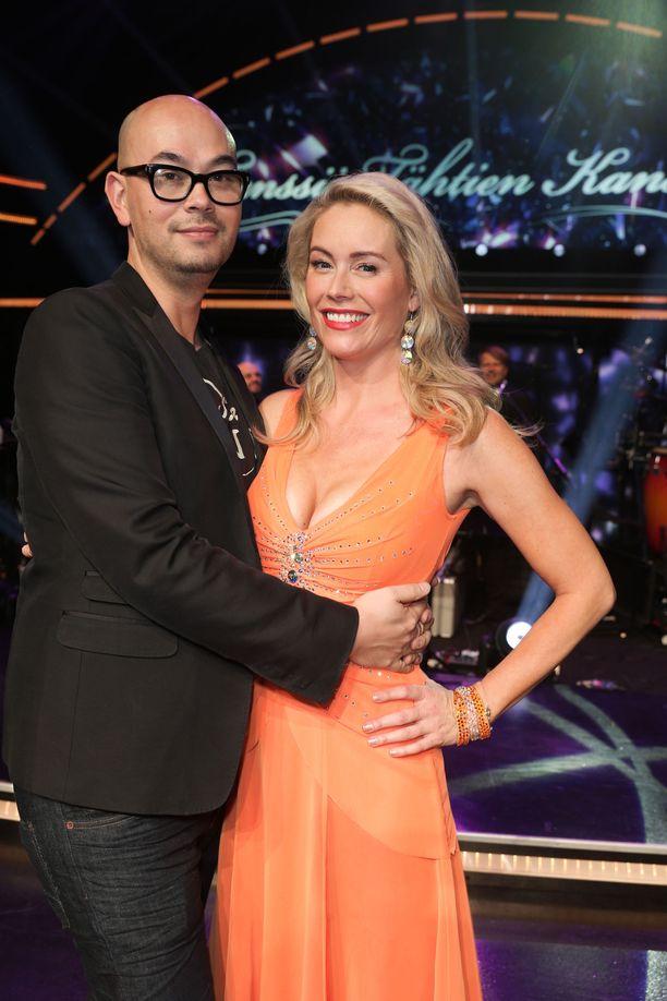 Joni kannusti Annea Tanssii tähtien kanssa -lähetyksessä syksyllä 2014.