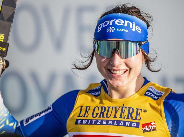 Eva Urevc voitti viime kaudella MM-pronssia parisprintissä.