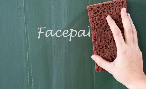 Tiedätkö, mitä esimerkiksi termi facepalm tarkoittaa?